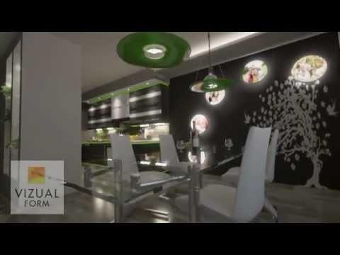 Projekt wn trza kuchni po czonej z jadalni i salonem for Projekty kuchni z salonem