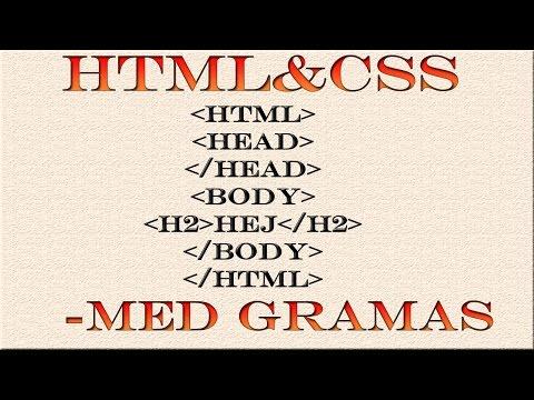 HTML & CSS Svenska - 6 - Enkel Css