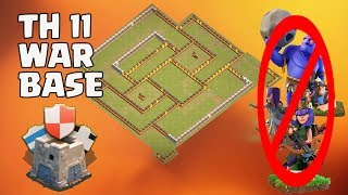 Th11 War Base 2017 Anti 1 Star/Anti 2 Star Anti Queen Walk Bowler Witch Anti Queen Walk Mine