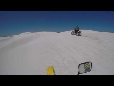 Lancelin  Dunes ride on Suzuki RMX 250