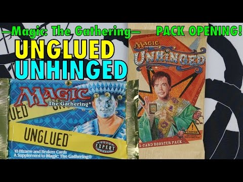 MTG   UNGLUED and UNHINGED Booster Pack Opening for Magic: The Gathering