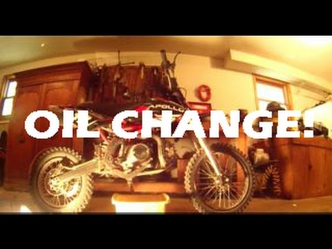 HOW TO CHANGE THE OIL ON APOLLO 125 DIRTBIKE!