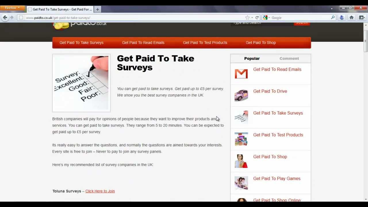 get paid to take surveys review get paid to take surveys online uk youtube 9866
