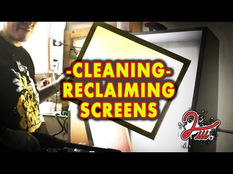 2 iLL Screen Printing - Cleaning - Reclaiming Screens