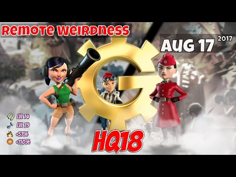 Boom Beach - HQ18 War Factory Unboosted - Aug 17/2017