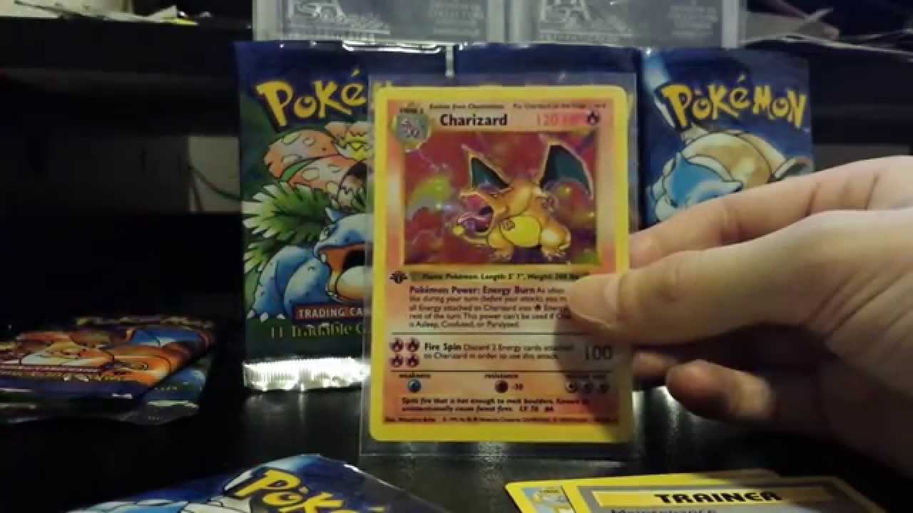 1ST EDITION CHARIZARD PULL!! Pokemon 1ST Edition Base Set Booster Pack!  HOLO PULL Part 9 of 11!!