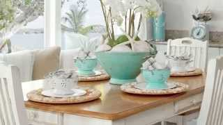 How To Create a Beachy Breakfast Nook | Seaside Design | Coastal Living