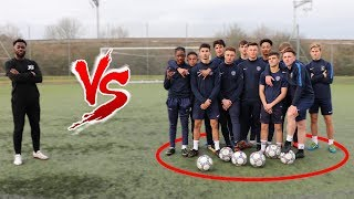 YOUTUBER VS ACADEMY FOOTBALL PLAYERS FOOTBALL CHALLENGES