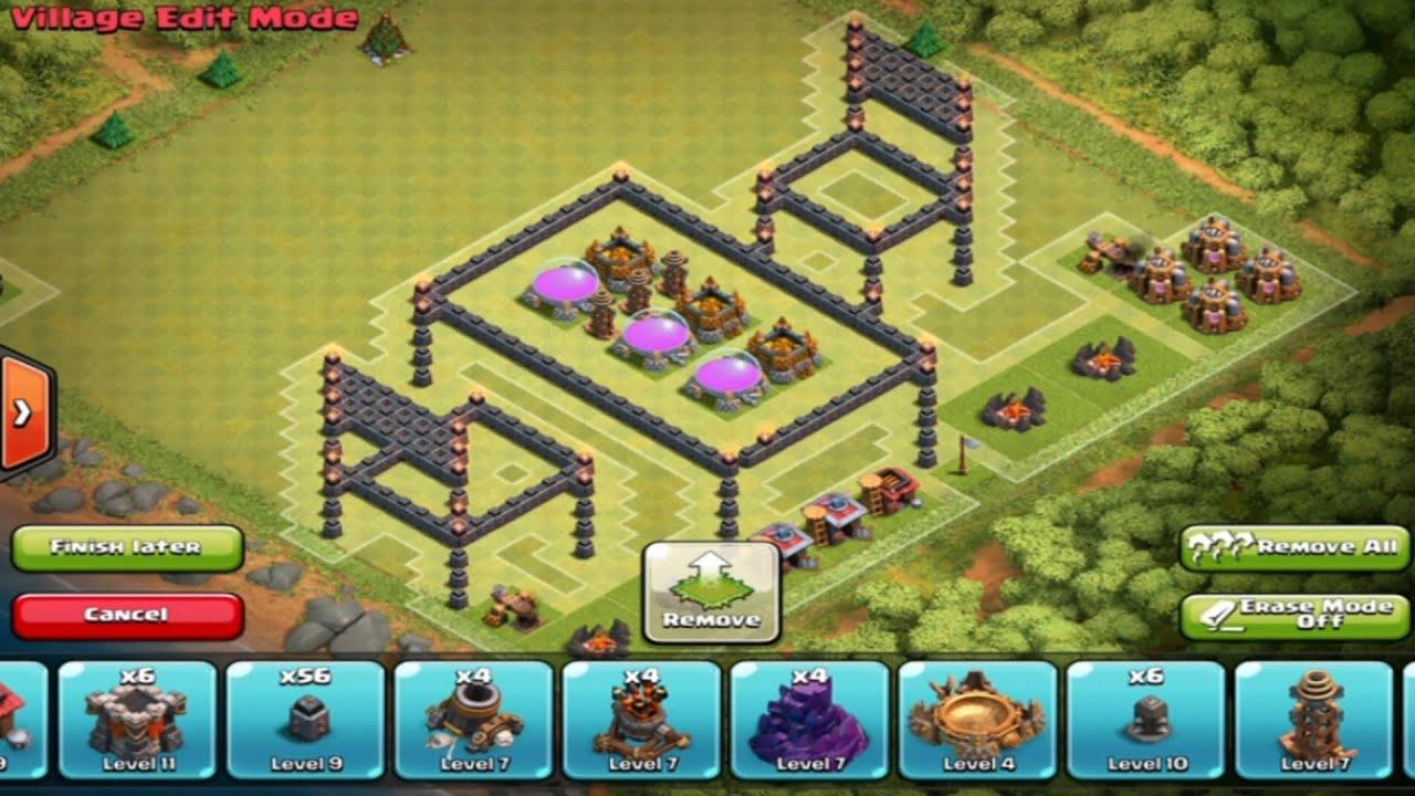 Clash of clans epic 3d troll base 3d base awesome base design