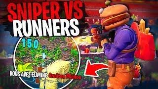 Michou ma victime sur ce Sniper vs Runners sur Fortnite Créatif !