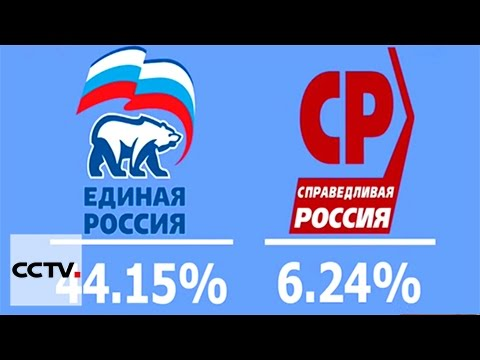 Russia's ruling party leads in parliamentary election
