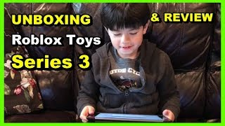 ROBLOX Series 3 Action Figure Mystery Box. UNBOXING & REVIEW TOYS FOR KIDS