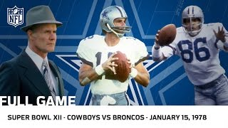 Cowboys Dominate The Broncos In Super Bowl XII NFL Full Game