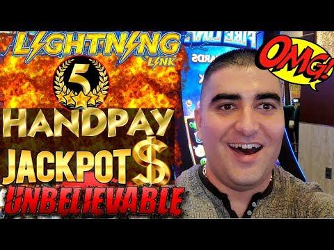 ✦5 HANDPAY JACKPOTS✦ On High Limit LIGHTNING CASH Slot Machine - HUGE HIGH LIMIT SLOT PLAY