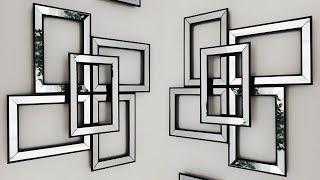 DIY Dollar Tree Mirror Wall Decor - So Easy To Make!