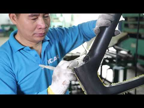 How Carbon Road Disc Frame A9 Made by ICAN Factory