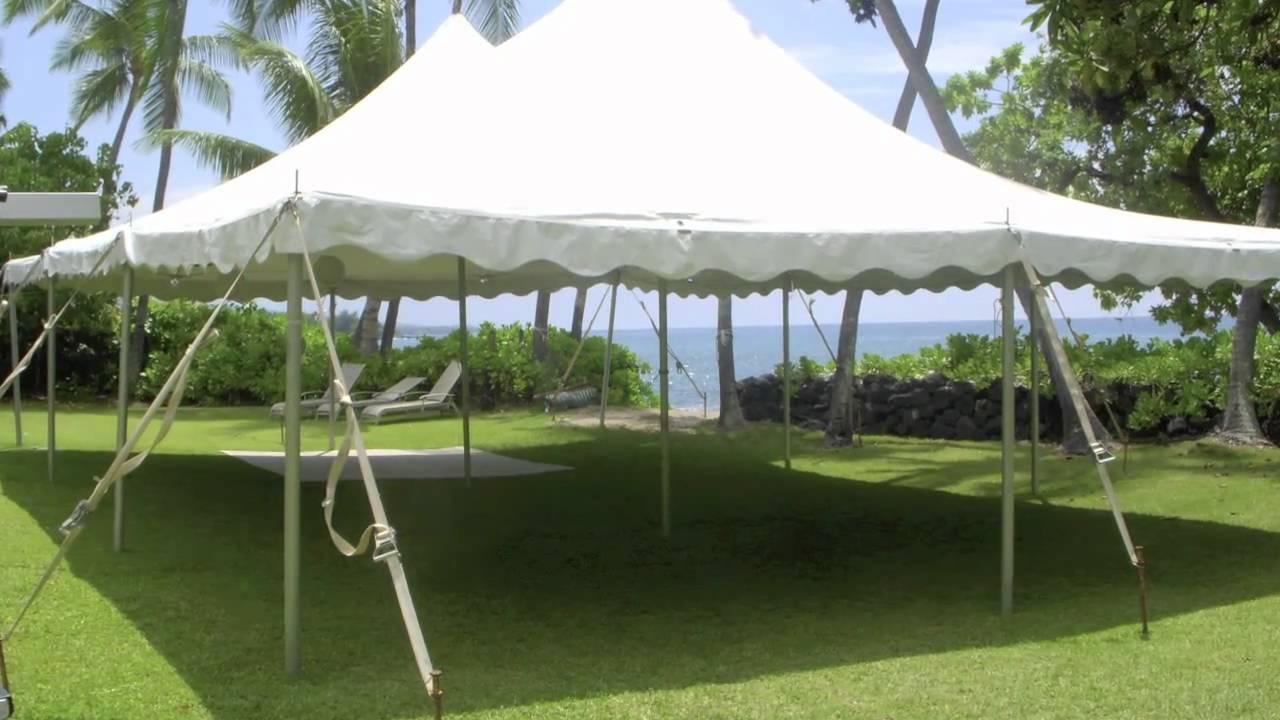 Big Island Tents & Big Island Tents - YouTube