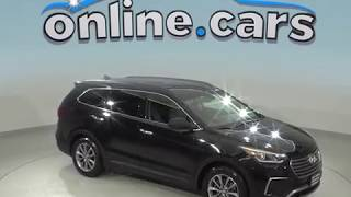 C99001TR Used 2017 Hyundai Santa Fe SE FWD 4D Sport Utility Black Test Drive, Review, For Sale