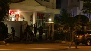 Police at Telok Kurau investigating a murder
