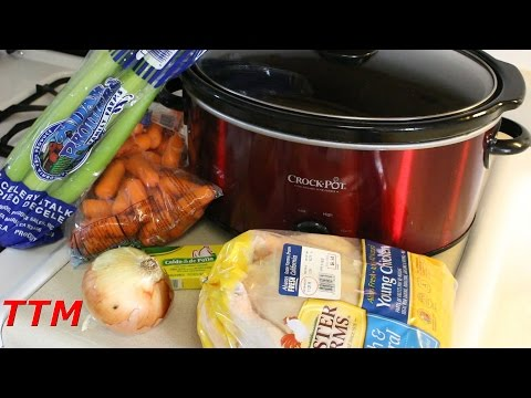 How to Make Chicken Noodle Soup in the Crock-Pot Slow Cooker~No Mushy Overcooked Noodles