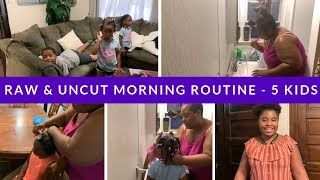 MY MORNING ROUTINE WITH 5 KIDS // LARGE FAMILY // WORKING MOM // SUMMER CAMP