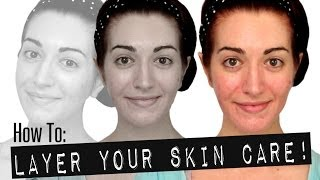 HOW TO: LAYER YOUR SKIN CARE! Layering Acne Treatments & More! Skincare Routine 2014 Thumbnail