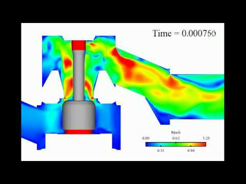 Pressure Regulator Valve Crunch Cfd Simulation Youtube