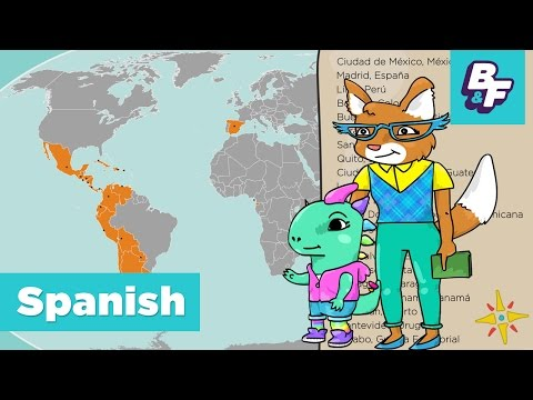 Learn Capitals of Spanish Speaking Countries with BASHO & FRIENDS - Paises hispanohablantes