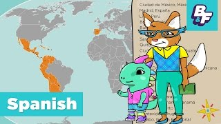 Learn Capitals Of Spanish Speaking Countries With Basho & Friends   Paises Hispanohablantes