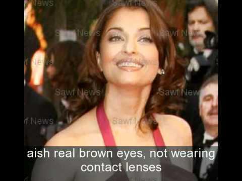 The True color of Aishwarya Rai's eyes! - YouTube