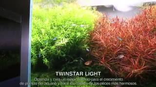 TWINSTAR LIGHT 600E - ¡Pantalla RGB LED de acuario de espectro completo!