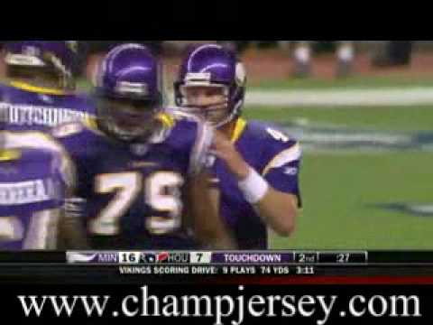 $23 Stitched On Jersey -Brett Favre looks sharp passing against the Texans