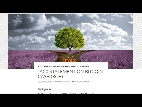 OFFICIAL STATEMENT | Jaxx Wallet Will Support Bitcoin Cash (BCH) | 07.29.2017
