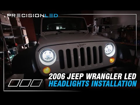 Jeep Wrangler LED Headlights How To Install – 2006-Present