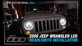 Jeep Wrangler LED Headlights How To Install - 2006-Present