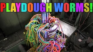 Making Giant Playdough Worms with Hydraulic Press | ODLY SAT...