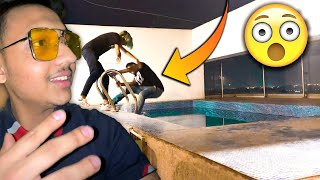 HE THREW HIM IN THE POOL *MIDNIGHT* 😱