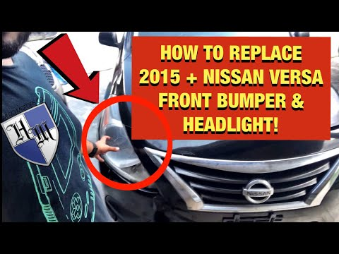 2015 NISSAN VERSA HEADLIGHT ASSEMBLY REPLACEMENT & FRONT BUMPER REMOVAL! HOW TO REPLACE FAST & EASY