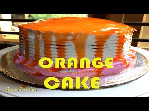 ORANGE GLAZE CAKE | EASY HOME MADE CAKE WITHOUT OVEN I PRESSURE COOKER CAKE