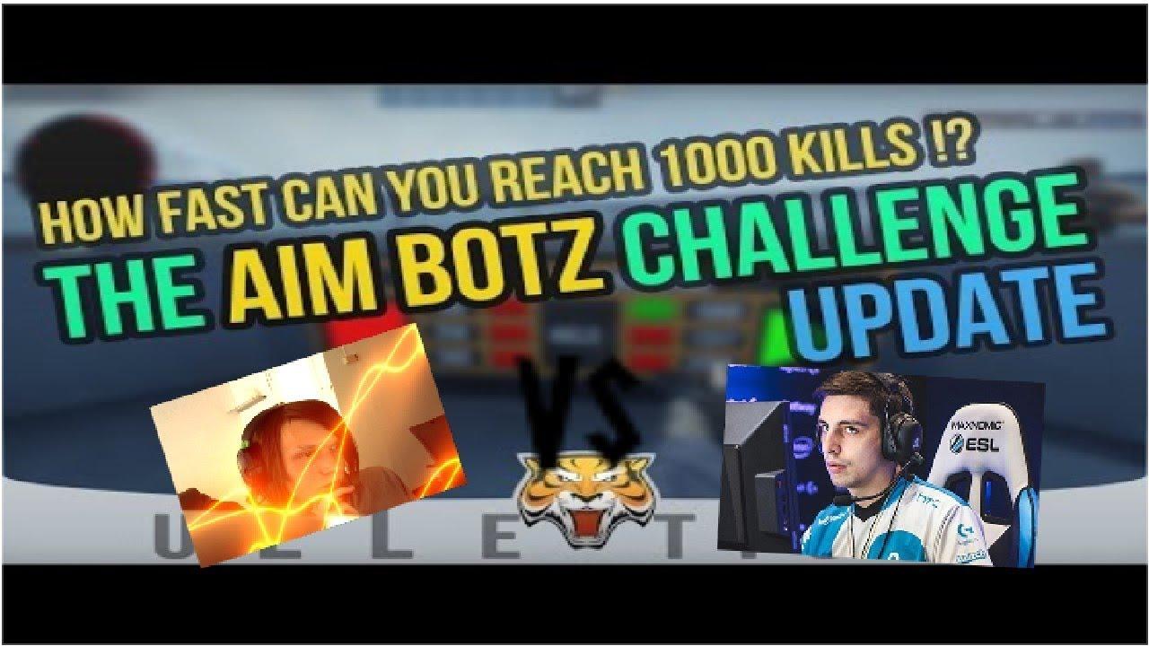 I trained 7 days to beat Shroud aim botz challenge time - Spoki
