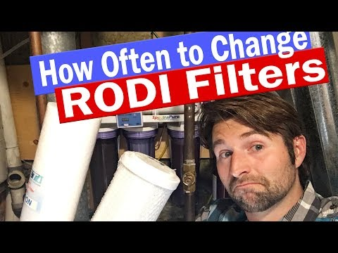 How Often To Change RODI filters - Sediment Carbon RODI filter Membrane DI resin and TDS meters