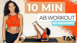 10 Min AB WORKOUT || NO EQUIPMENT - FOLLOW ALONG / The Athlete Method