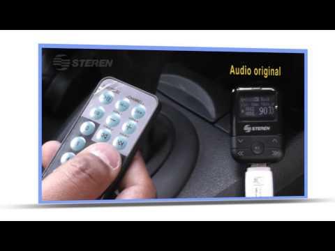 Transmisor de audio FM con entrada USB/SD/AUX para automóvil
