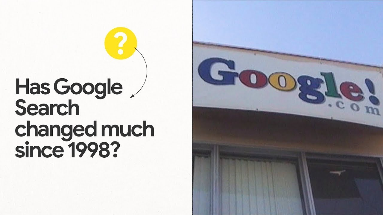 Has Google Search changed much since 1998?