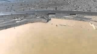 فيضان سد وادي المعيدن بولاية نزوى بتاريخ 10 مارس 2016
