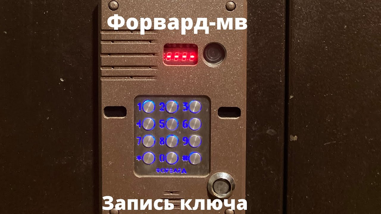 Как записать ключ в память домофона ФОРВАРД-МВ