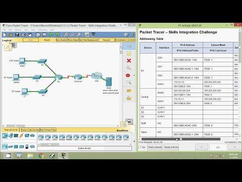 11.5.1.2 Packet Tracer - Skills Integration Challenge