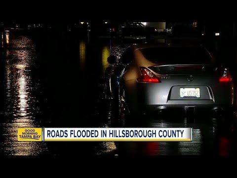 Roads flooded in Hillsborough County