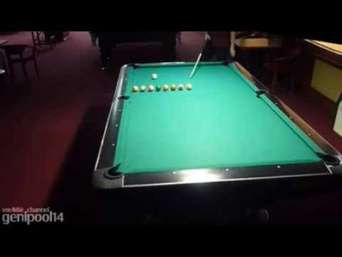 "Pool billiard drill ""line in order"""