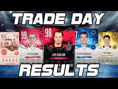 NHL 18 TRADE DAY RESULTS
